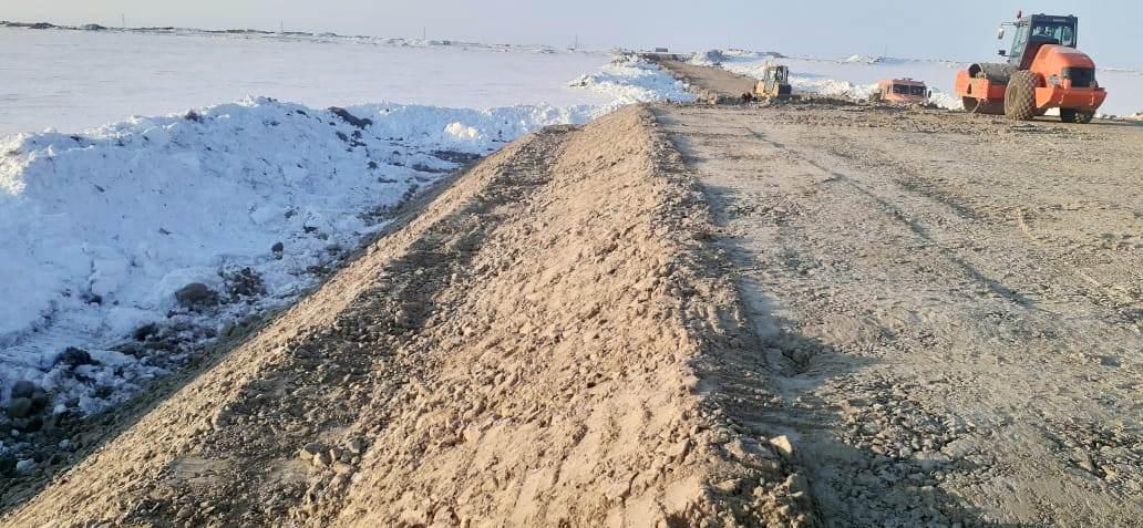 Напорный нефтепровод Песцового месторождения. 2 этап строительства. Монтажные площадки ННБ при переходе через Ж.Д, и автодорогу