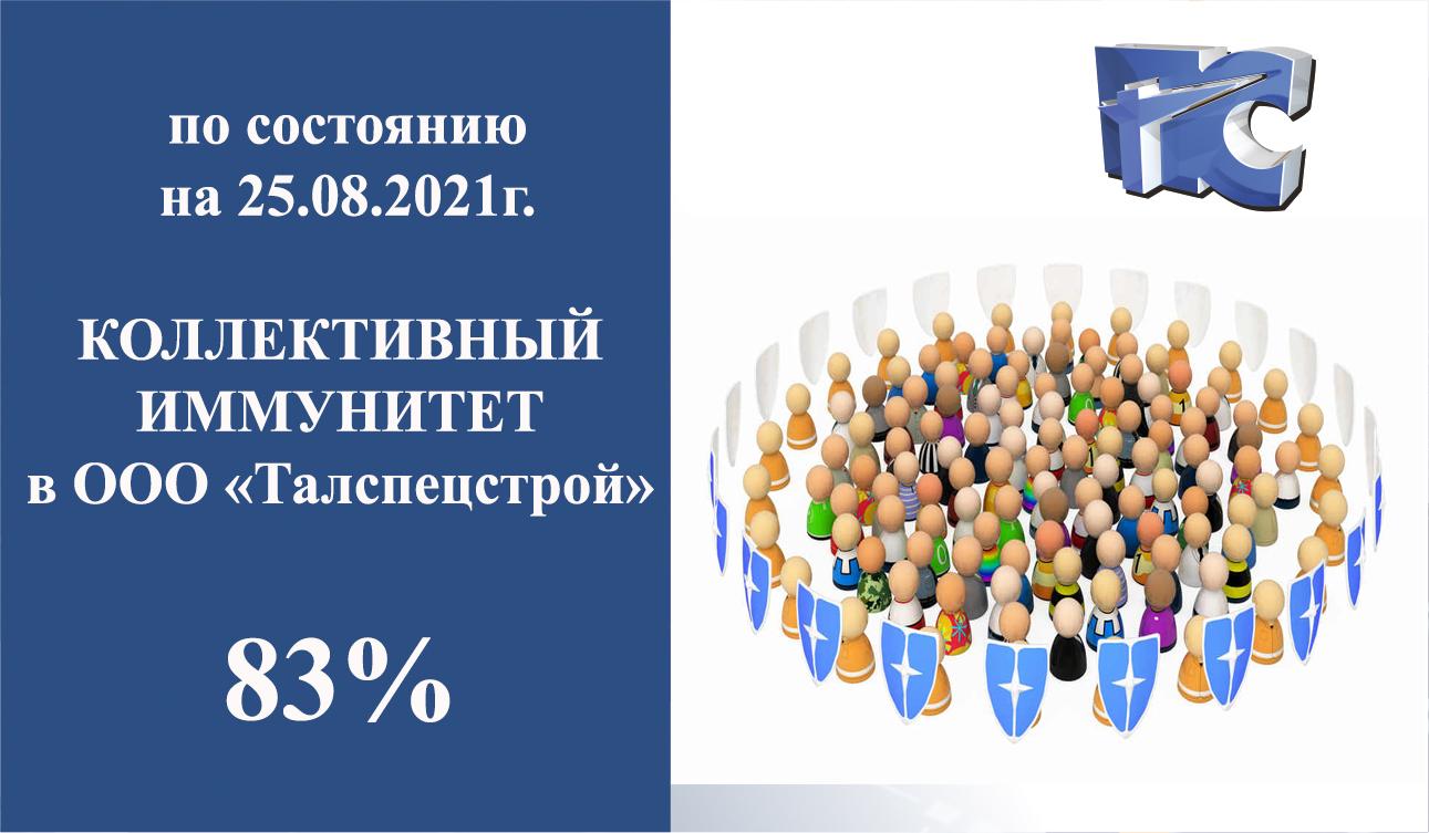 ООО «Талспецстрой» достиг 83% коллективного иммунитета